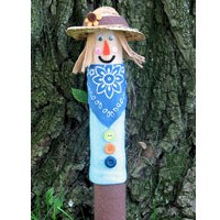 Image of Recycled Cardboard Tube Scarecrow