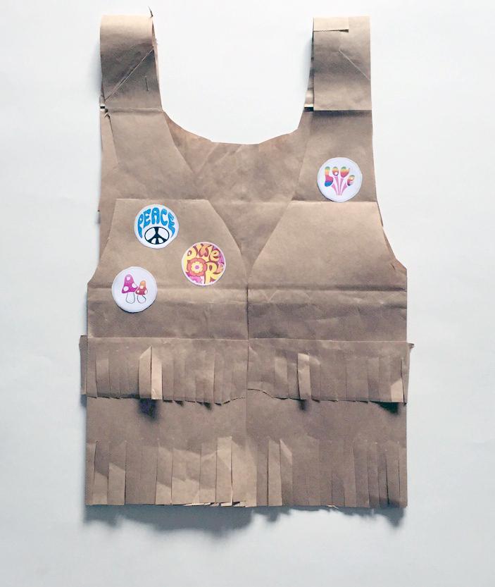 Retro Paper Bag Vest