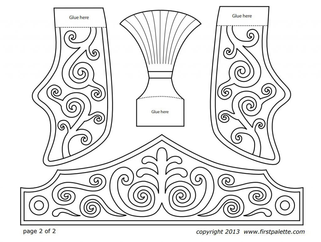 Printable Roman Helmets