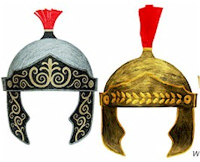 Image of Printable Roman Helmets