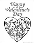 Printable Valentine Heart Coloring Page