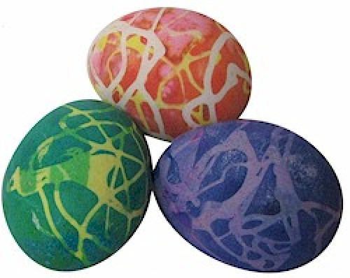 Rubber Cement Easter Eggs