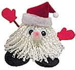Adorable Santa figure made from yarn