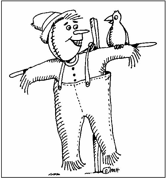 Image of Scarecrow Coloring Page