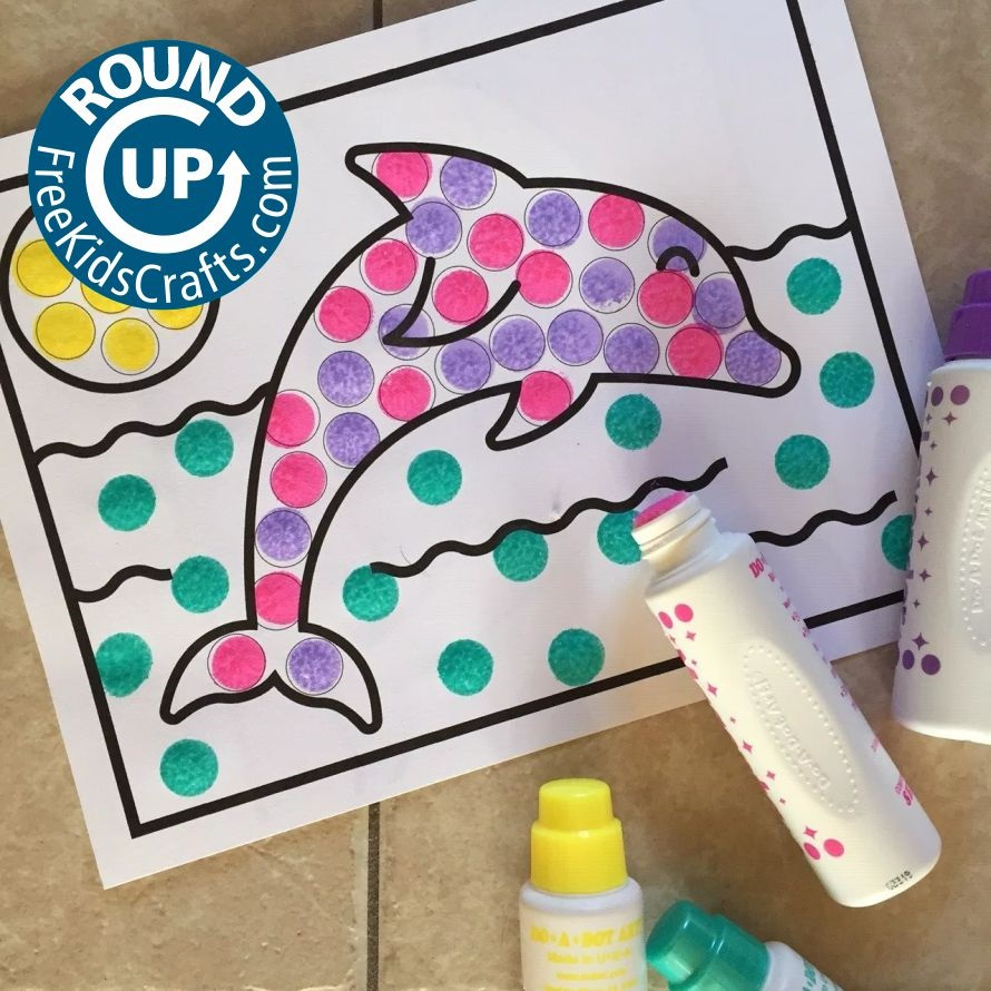 Round up of sea life crafts for kids