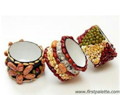 Make Thanksgiving Napkin Rings with cardboard tubes and seeds