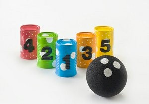 Recycled Soup Can Bowling Game
