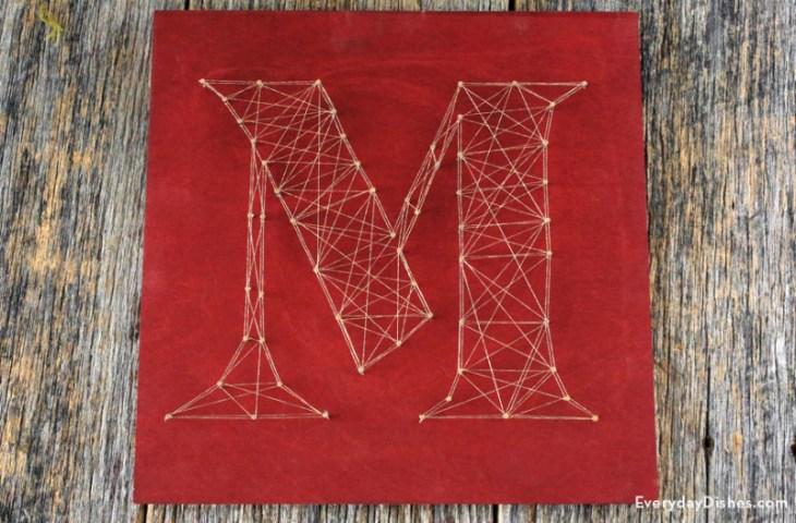 Decorative String Art Letters