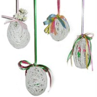 String Art Easter Egg Ornaments