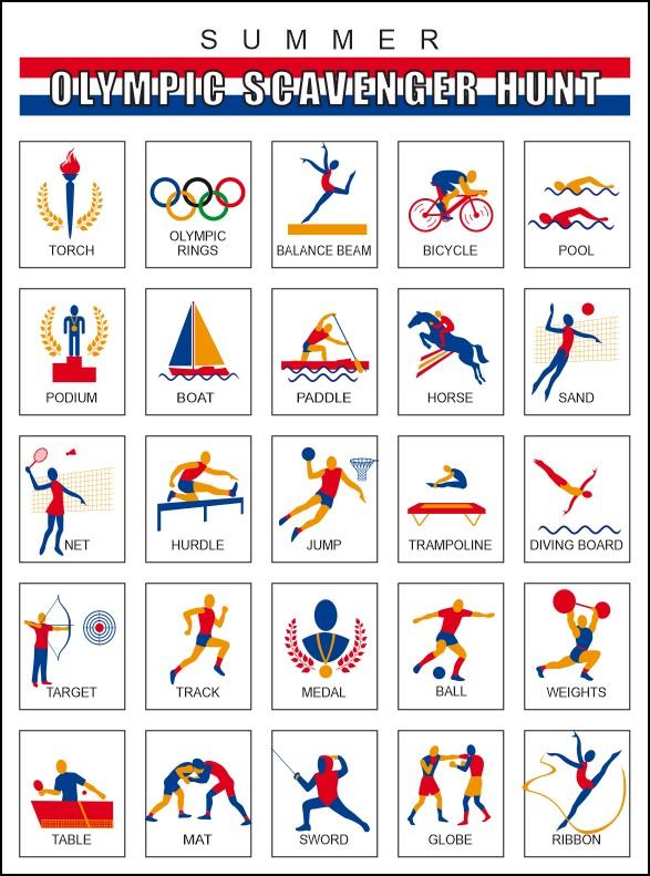 Summer Olympics Scavenger Hunt