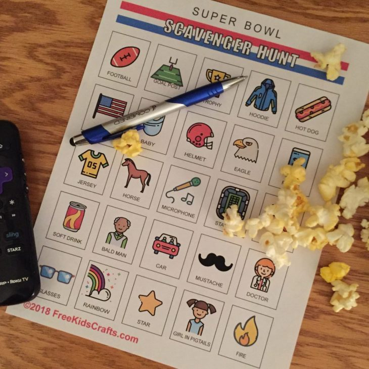 Printable Super Bowl Scavenger Hunt