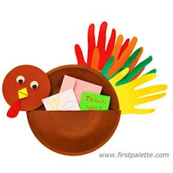 Image of Paper Plate Thank You Turkey