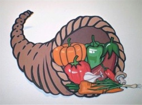 Cut and Paste Cornucopia for Thanksgiving