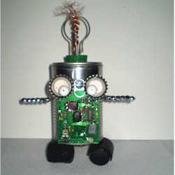Recycled Tin Can Robot
