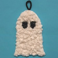 Tissue Paper Ghost Decoration