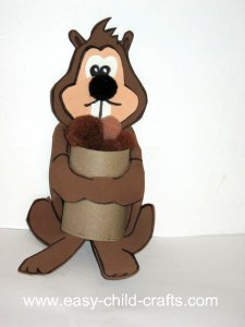 Image of Cardboard Tube Squirrel Craft