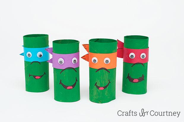 Cardboard Tube Ninja Turtles