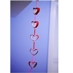 Image of Cardboard Tube Heart Garland