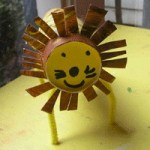 Image of Cardboard Tube Pumpkin Stamp