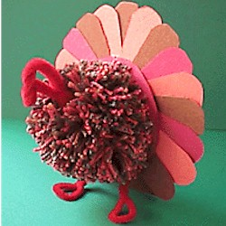 Tri Color Turkey Centerpiece