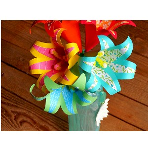 Image of Paper Tropical Flowers Bouquet