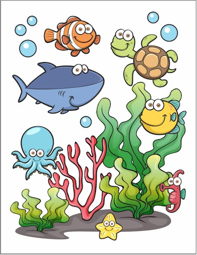 Under The Sea Printable
