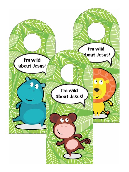 VBS Jungle Door Hangers