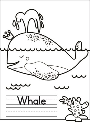 Image of Narwhal Coloring Page Plus 5 More Sea Life Coloring Pages