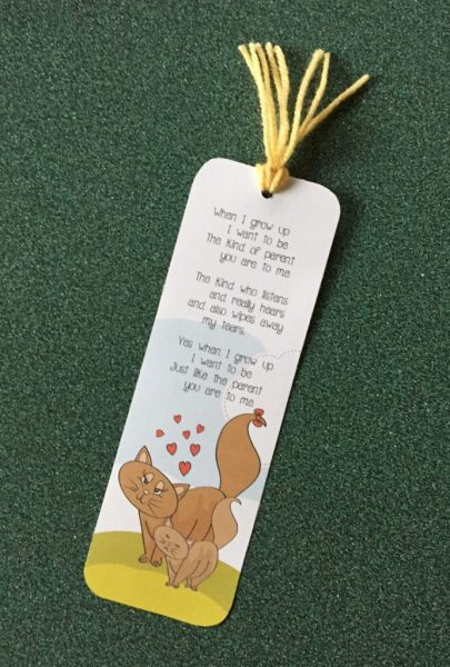 When I Grow Up Bookmark Poem