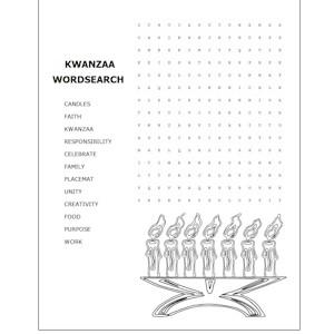 Image of Kwanzaa Word Search