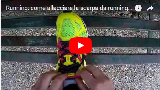 running come allacciare la scarpa da running