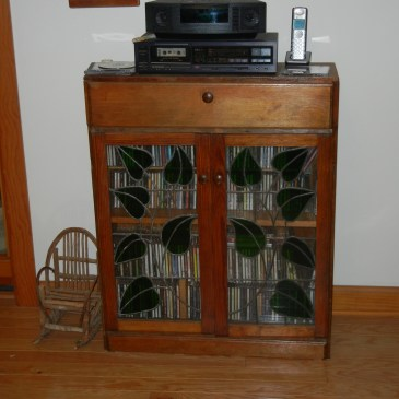 Upcycled wooden cabinet