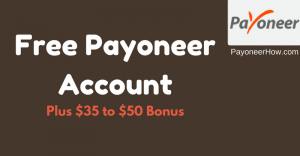 Payoneer MasterCard Sign UP