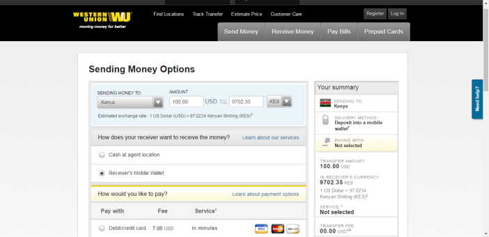 WesternUnion - Instantly send money to Mpesa