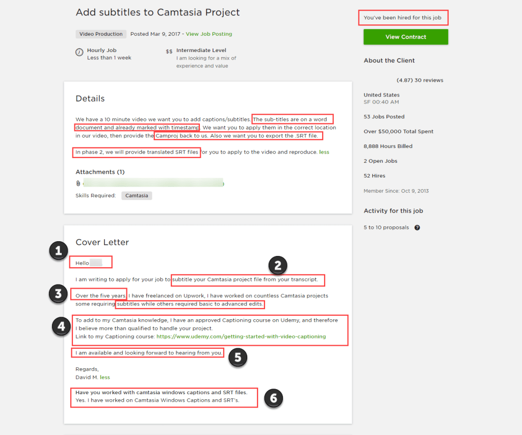 how to write upwork proposals that get you hired  u2013  sample