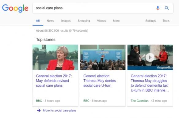 social care plans search