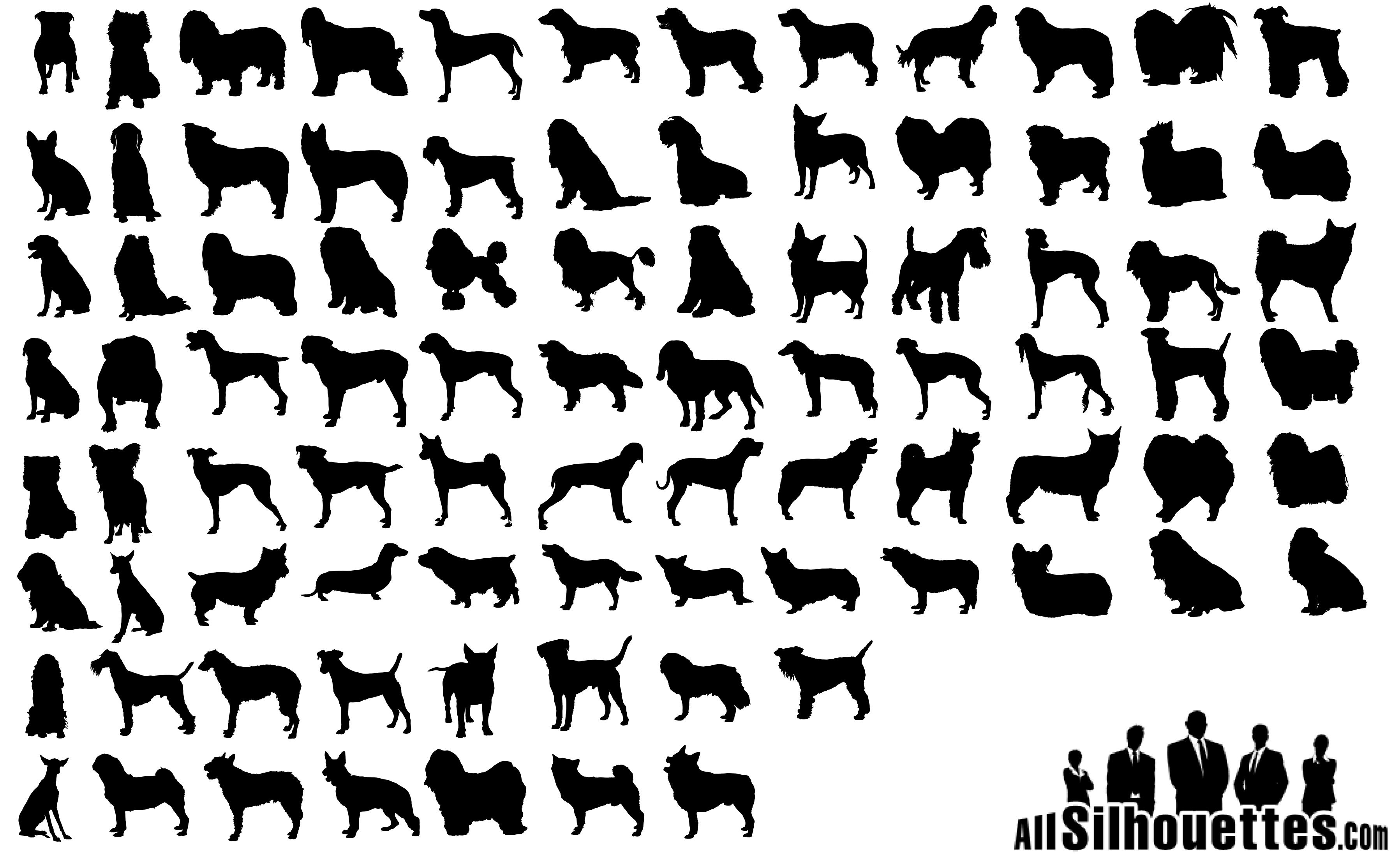 80 Dogs Silhouettes Vector Icon Template Clipart Free Download