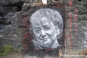 Angela Merkel painted portrait, foto: Thierry Ehrmann