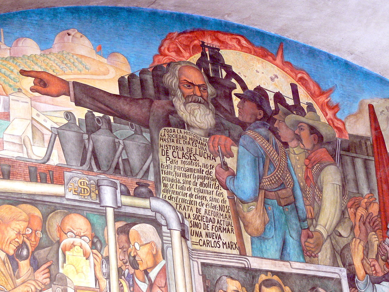 Mexico City, Palacio Nacional. Mural by Diego Rivera, History of Mexico, Wolfgang Sauber