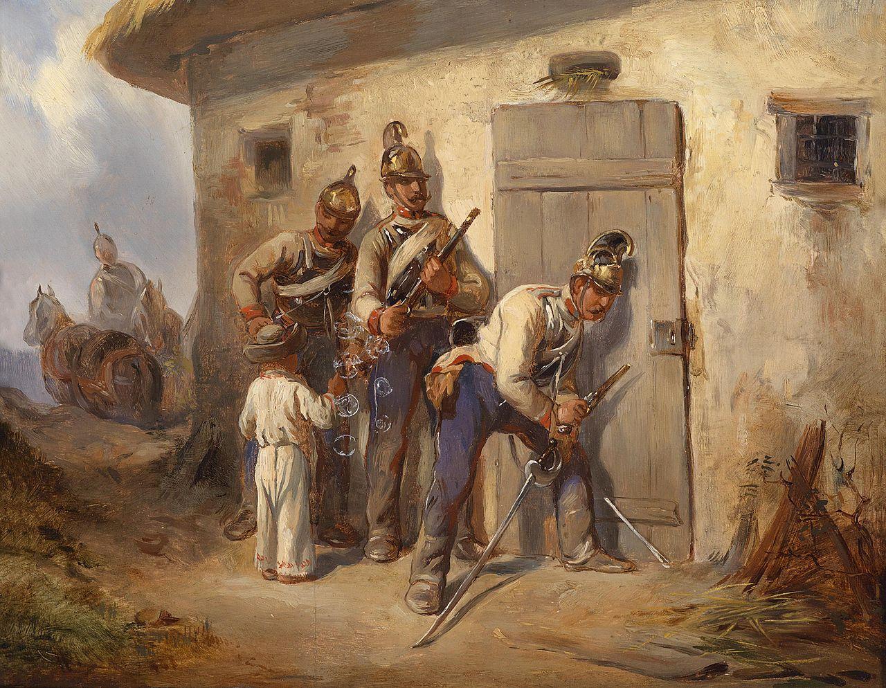 August von Pettenkofen, Österreichische Dragoner, Dorotheum