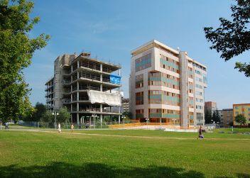 Skelet nikdy nedostavěné budovy KSČ v Ostravě, foto Petr Šmerkl