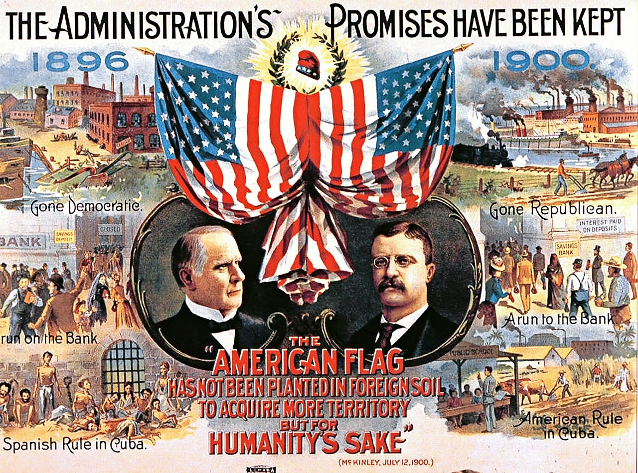 Campaign Poster from United StateCampaign Poster from United States 1900 Presidential Elections 1900 Presidential Election