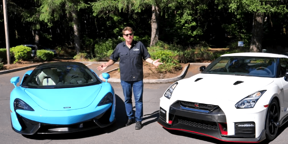Recenze McLaren 570s vs. Nissan GT-R (video)