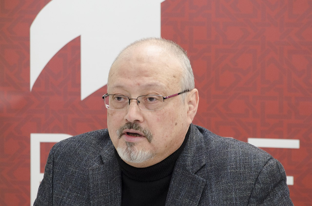 Jamal Khashoggi in March 2018, by April Brady