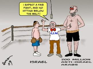 Israel vs. Arabs by Barry Hunau, Jerusalempost