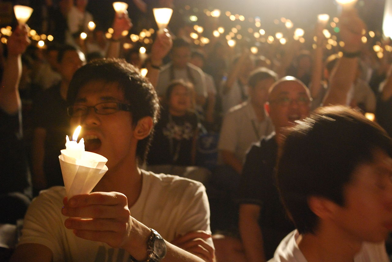 Candlelight Vigil, 20th Anniversary of the June 4th Incident, Hong Kong, Ryanne Lai