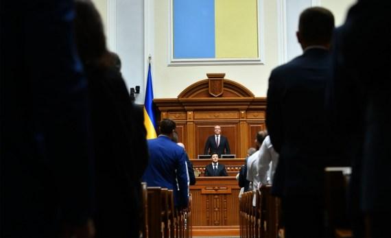 Volodymyr Zelensky 2019 Presidential Inauguration by Mykola Lazarenko