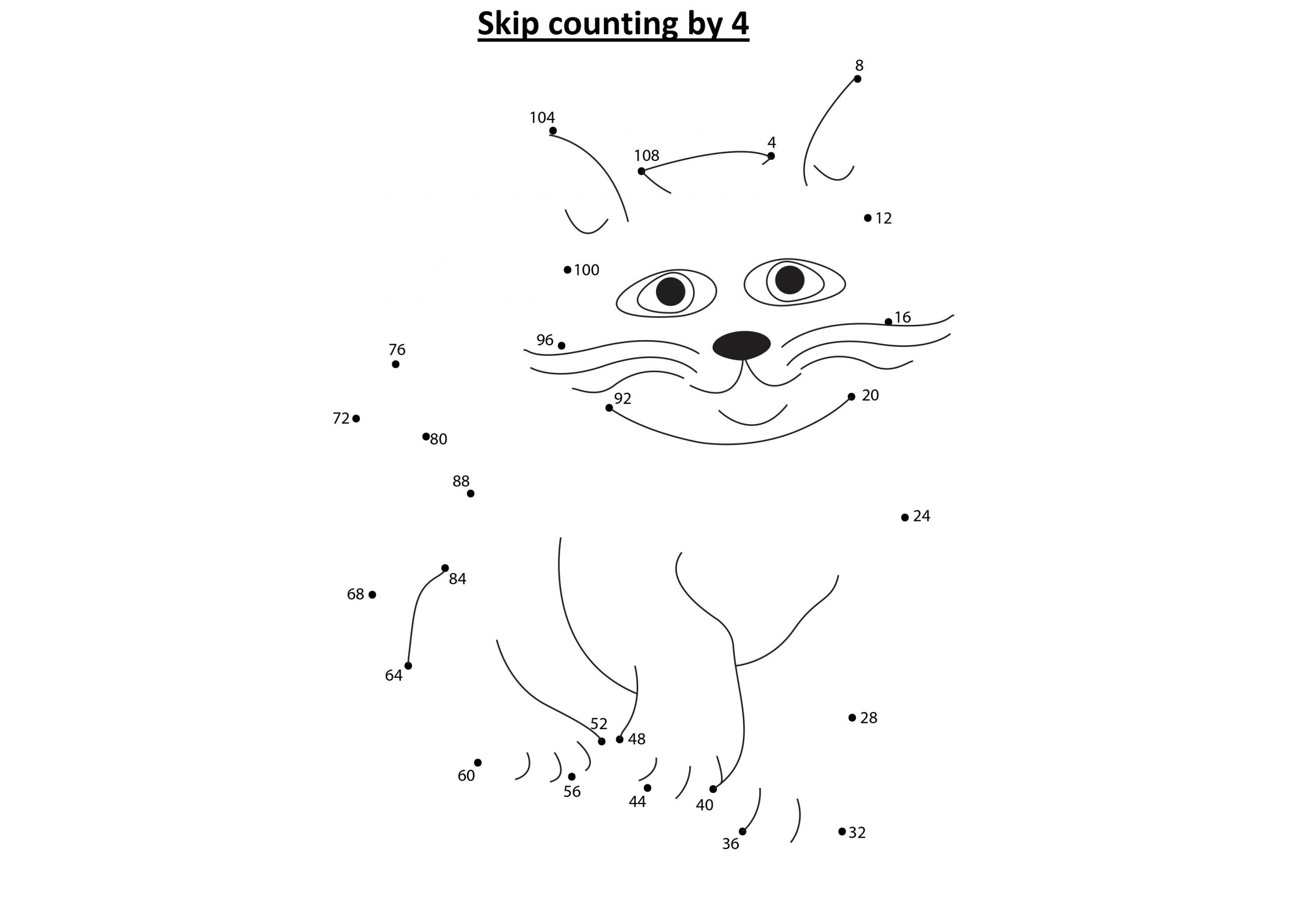 Skip Counting By 4 Worksheets 4