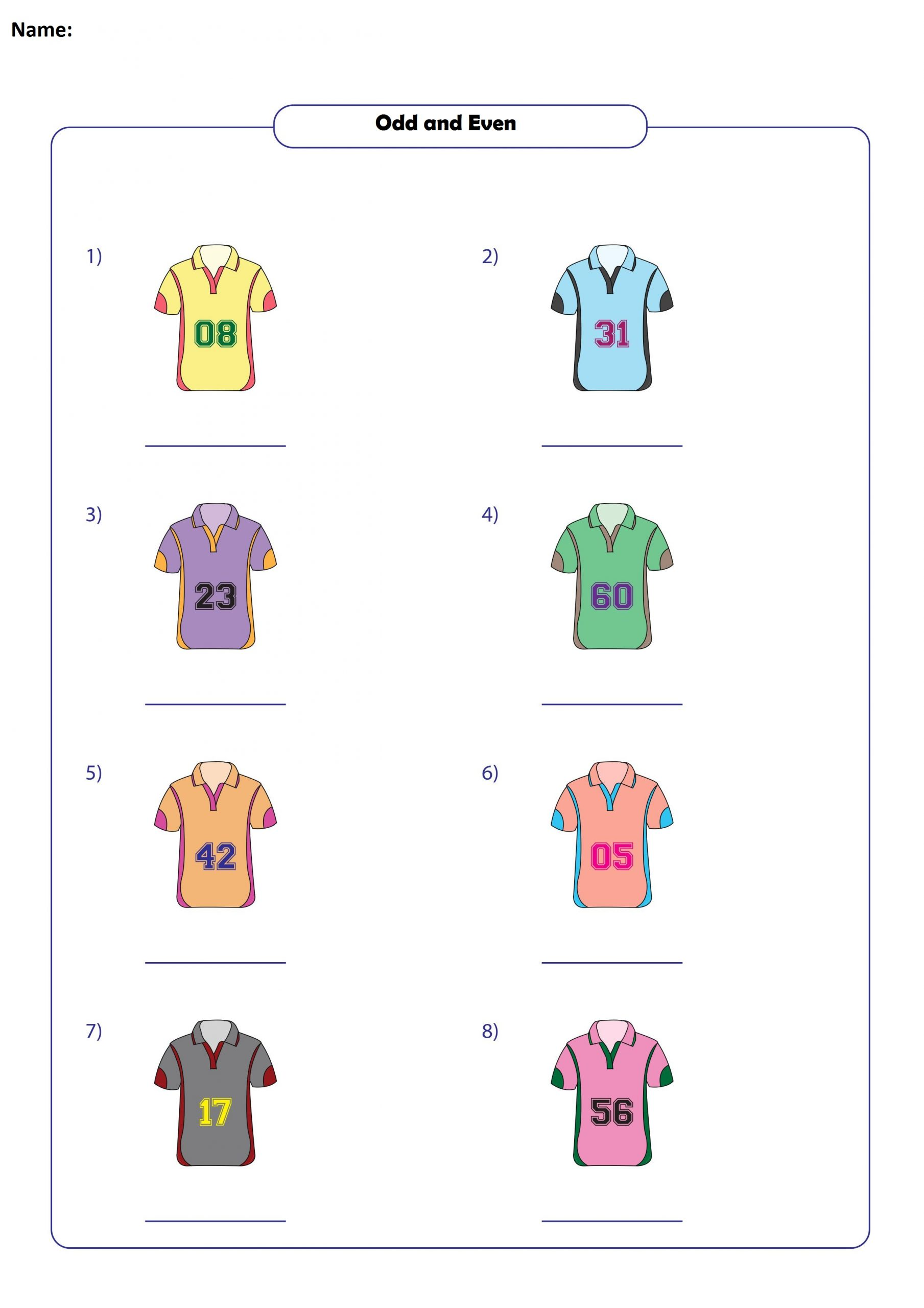 Odd And Even Printable For Second Grade 1