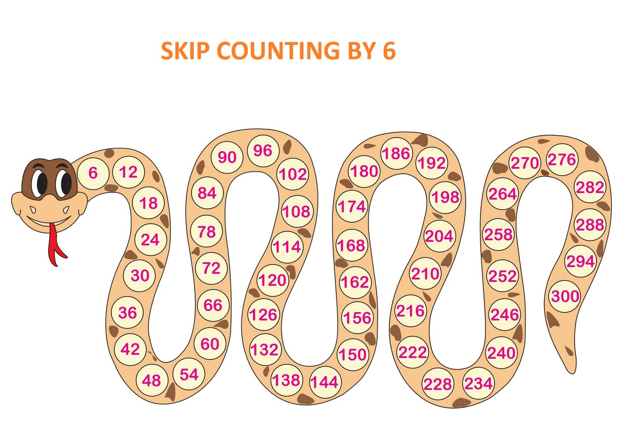 Skip Counting By 6 Printable